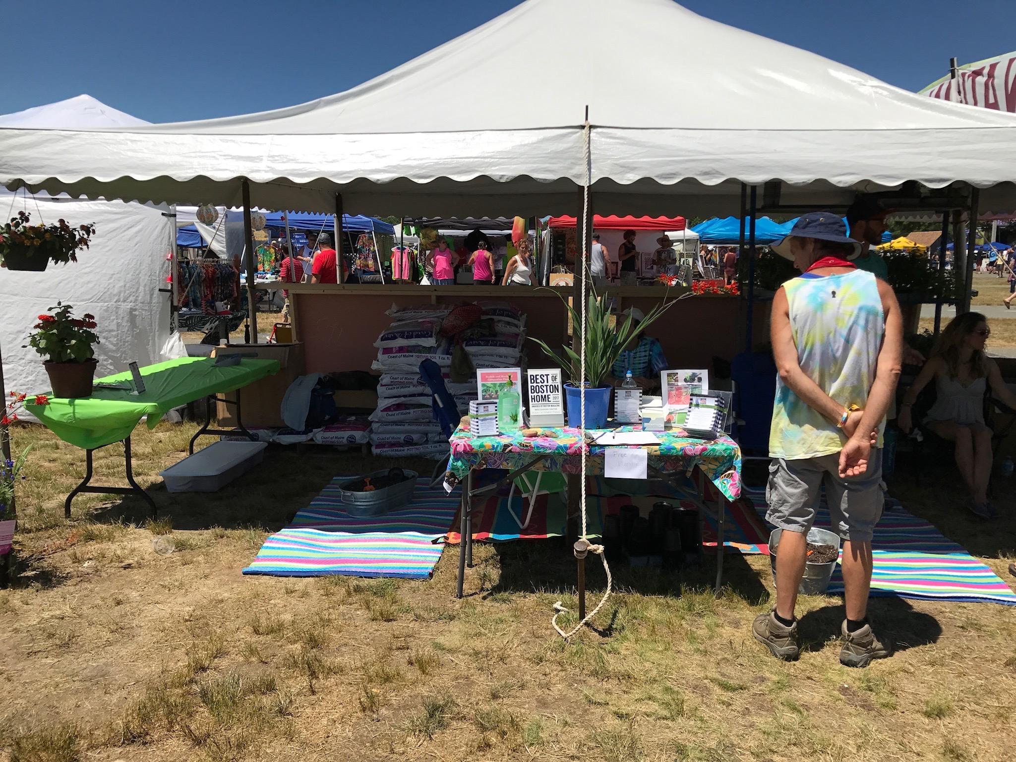 Vendors at Levitate Music Festival