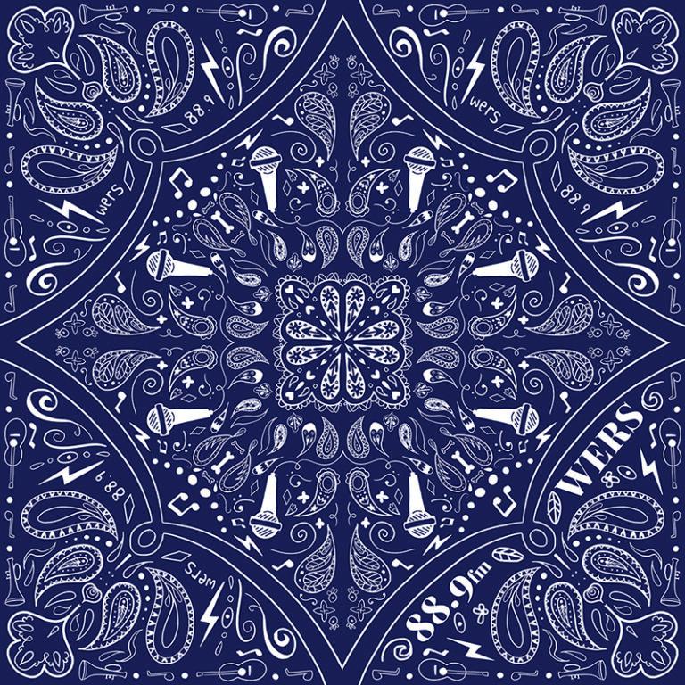 WERS bandana design