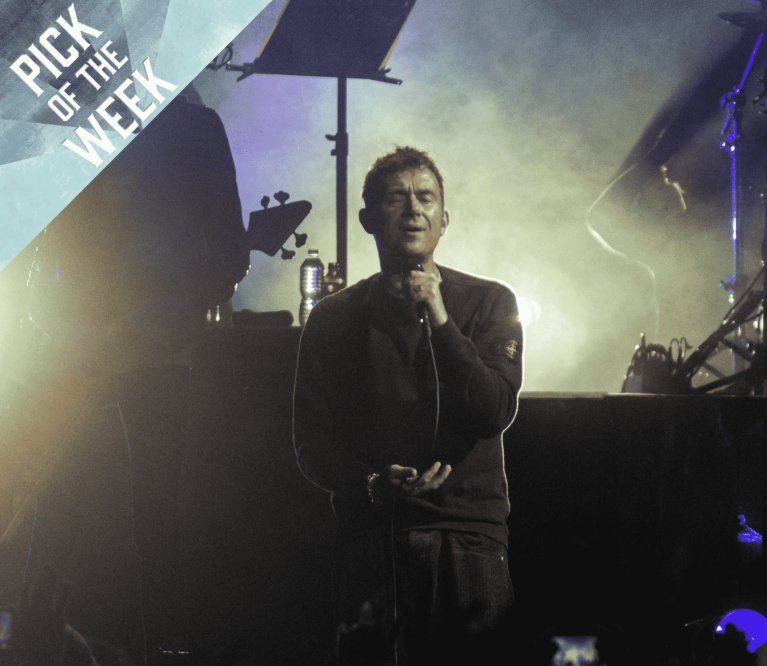 Damon Albarn performs live with Gorillaz