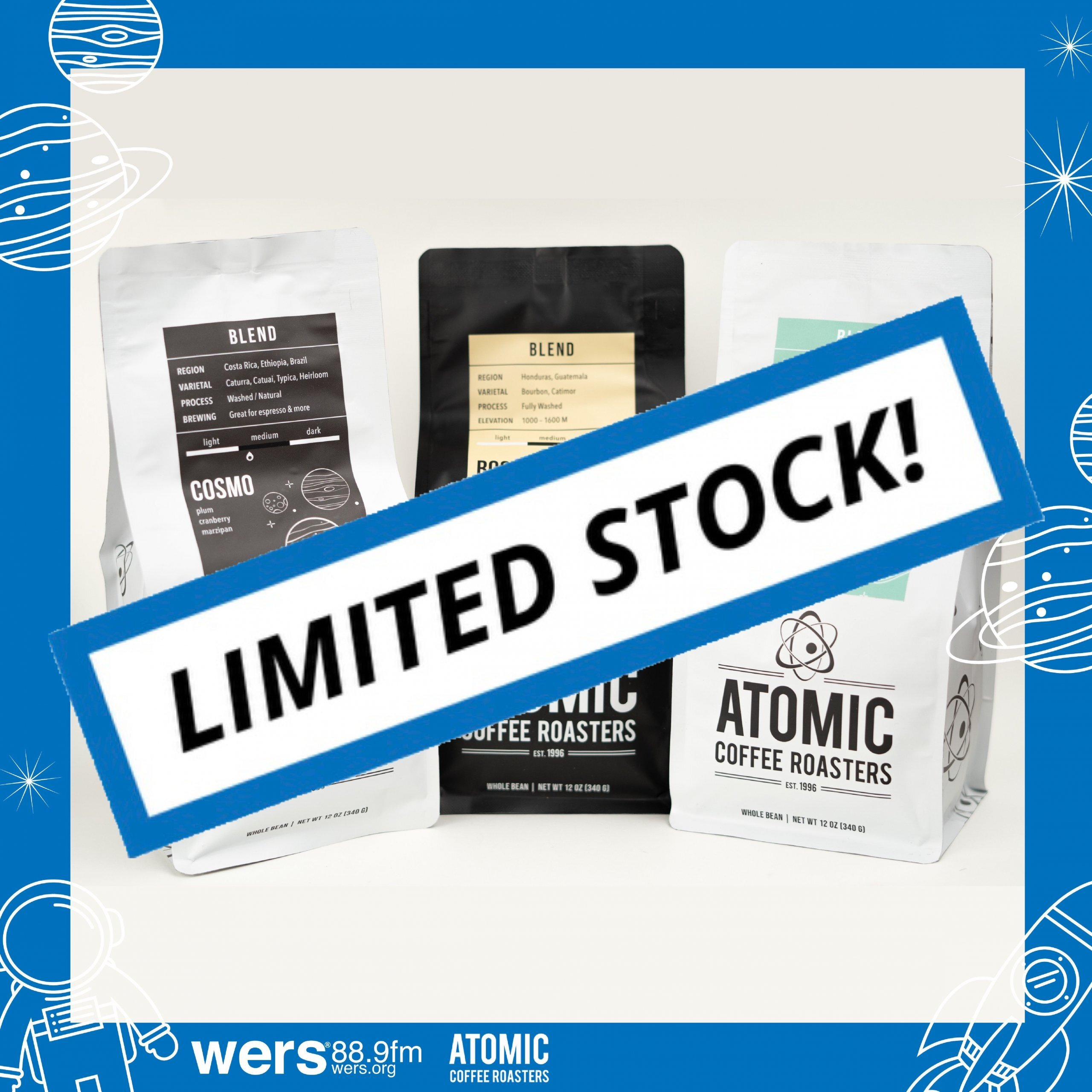 Atomic Coffee 2021 Out of this World Sampler Limited Stock